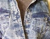 Reserved for Holly-Cropped acid washed jacket denim