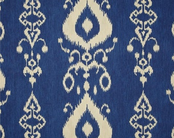 Blue and Oatmeal Ikat Pillow Covers in Swavelle Mill Tullahoma Ikat BayFabric