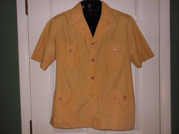 50s retro early kent colonial guyana safari shirt