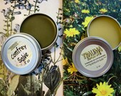 Lot Of Two (2) Comfrey & Trauma Salve - Double Power Pain Relief - 2 Tins of Salve - each 2 oz