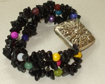 Southwest black chip bracelet.