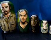 Set of Five The Walking Dead Nesting Dolls