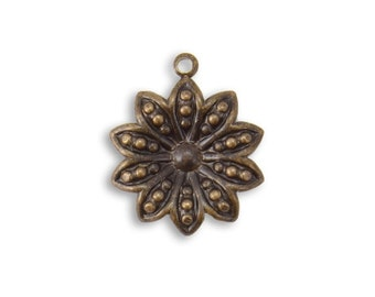 Vintaj 19.5x16mm Decennial Flower