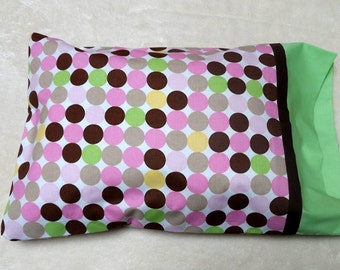 Green Dotted Travel Size Pillowcase