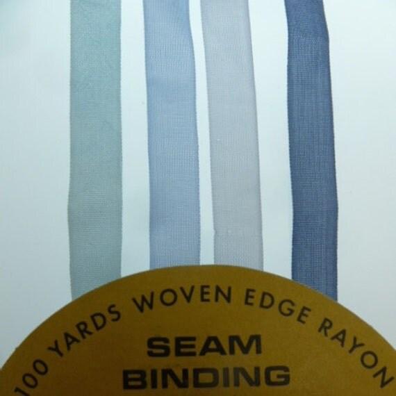 8 Yards Of Shades Of Blue Hug Snug Rayon Seam Binding