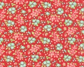 Hello Darling - Tiny Bouquet in Red - Bonnie and Camille for Moda - 55118 11 - 1/2 yard