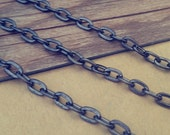 16ft  4mmx7mm  gunmetal color  flat shape Link pendant chain