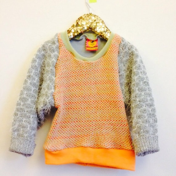CRUMBS 4-5 Years Childrens Kids Jumper Top Sweater Pattern Upcycled Unisex
