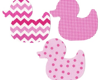 Duck iron on appliques DIY - baby shower
