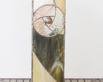 Stained Glass Abstract Table Lantern