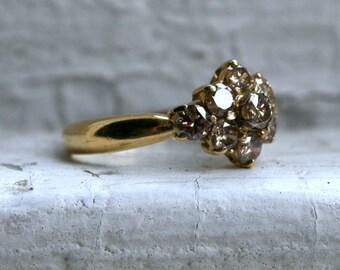 RESERVED - Beautiful Vintage 18K Yellow Gold Champagne Diamond Wedding Band - 1.00ct.