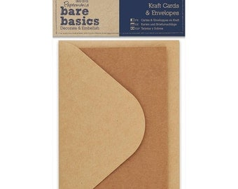 Kraft Blank Note Cards and Envelopes for Handmade Cards 3 Sets by Papermania
