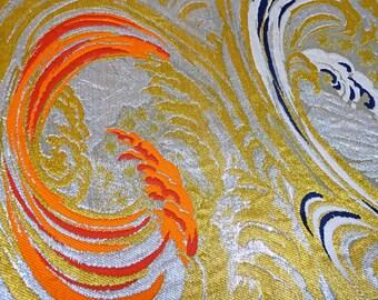 Vintage Metallic OBI KIMONO Fabric scrap