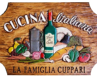 Italian Cucina Kitchen Personalized Sign