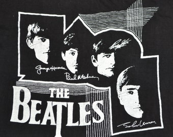 Vintage 70's 80's The Beatles L T-Shirt Rock Tee Shirt Thin And Soft