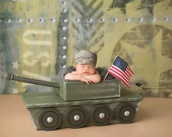 Tank Photo Prop, Newborn Photo Prop, Photography Prop