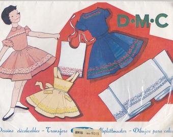 1960's Embroidery Pattern Transfers - DMC - Original patterns not pdf copy