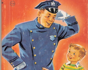 Peter Pat and the Policeman Vintage Rand McNally Junior Elf Book Illustrated by Dorothy Grider