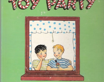 The Toy Party - Steve and Todd Have a Dream Vintage Tell A Tale Book by Til B Christopher Illustrated by Wysse