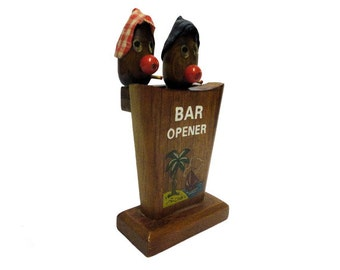 Vintage Barware, Mid Century Modern Bar Set, Hillbilly Cocktail Tools