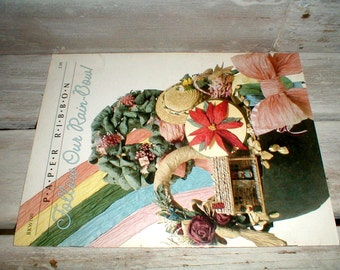 Paper Ribbon *Follow Our RainBow* Patterns/Instructions Booklet *Bows*Wreaths*Dolls* Decor!