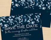 Sparkly Stars On Water Text-Editable Save the Date: 6 x 4 - Instant Download