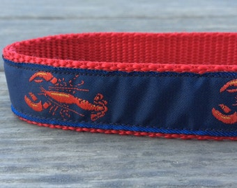 Lobster dog collar 1 in wide