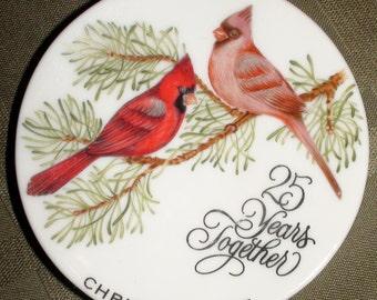 Hallmark 1987 Miniature 25th Anniversary Cardinal Plate