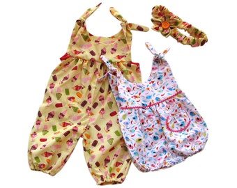 Dungarees/Rompers Age 6mth 1yr and 2yrs PDF Pattern Easy dungarees pattern Simple Romper PDF Instant Download