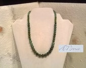 """Unisex Necklace: Fancy Jasper and Aventurine """"Relaxing and Prosperous"""""""