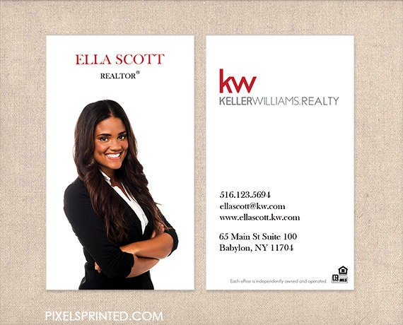Kw realtor business cards thick color both sides by for Modern realtors real estate