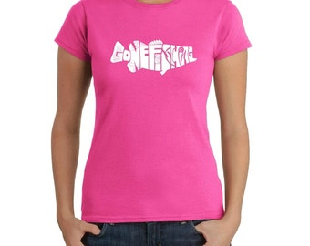 Women's T-shirt - Bass - Gone Fishing