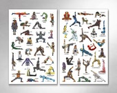 YOGA SUPER POP - Super Collected Edition 1 and 2 - 11x17 Art Prints by Rob Ozborne