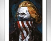 THOMAS JEFFERSON Rebel Writer American Art Print 11x14 by Rob Ozborne