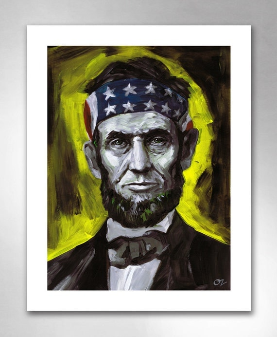 ABE LINCOLN Liberty Thinkin' American Art Print 11x14 by Rob Ozborne