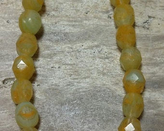 6 mm Czech Fire Polished Beads CFPBYO