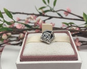 Authentic Retired Pandora Charm For Bracelet CAR with CZ headlights and tail lights  BEAUTIFUL