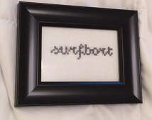 Funny saying cross stitch