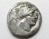 Roman coin,  Ancient Roman Republican Coin: T. Cloelius - c. 128 BCE (Over 2100 Years Old) - 001