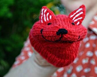"""handpuppet """"FOX"""" knitting pattern PDF Pumora"""