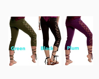 YOGA LEGGINGs - ASSORTED, Yoga pants, gothic leggings, lace leggings, goth trousers, goth pants, goth clothing, Lctrss