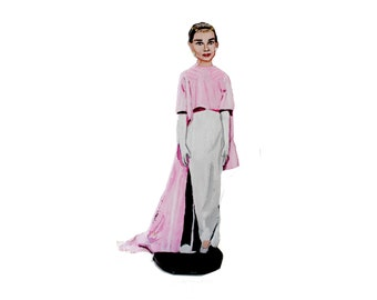 Audrey Hepburn Funny Face Hand Painted 2D Art Figurine
