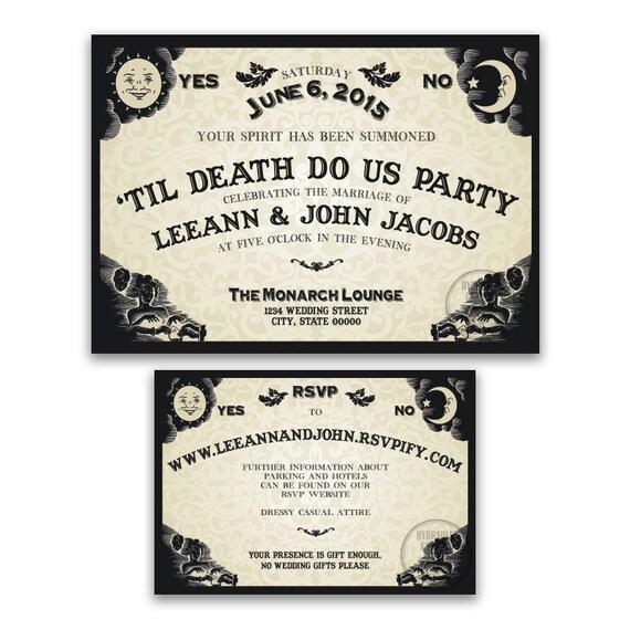 Ouija Board Invitation for Wedding Reception Halloween – Halloween Wedding Reception Invitations