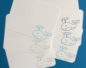 Whale Note Cards - Nautical Baby Shower, Nautical Birthday Thanks