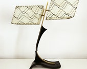Mid Century Dual Shade Majestic Table Lamp