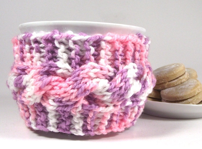 KNITTING PATTERN COZY Cup holder Lazy Morning cozy Coffee