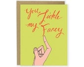 You Tickle My Fancy Card - Just Because Card Love Card Thank You Anniversary Thinking of You Card Couple Greeting Card by Hello Small World