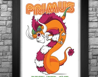 "PRIMUS inspired limited edition 11X17"" tour poster"