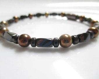 Magnetic Hematite Bracelet, Magnetic Copper Bracelet, Magnetic Bracelet, Magnetic Therapy Bracelet, Hematite Bracelet