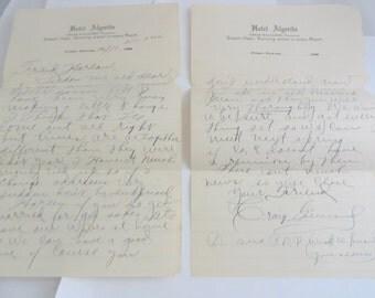 Vintage Handwritten Paper Ephemera Letter to Friend 1920s Handwritten